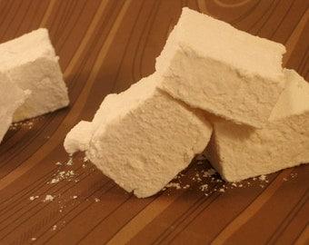 Honey Vanilla Marshmallows - 1 dozen Gourmet homemade marshmallows