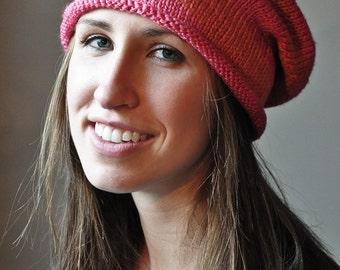 Peach-n-Pink Slouchy Hat