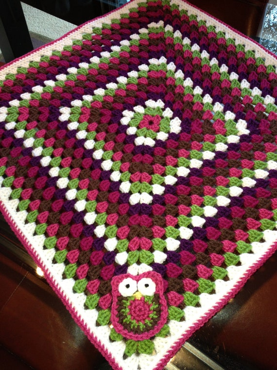Free Crochet Pattern For Granny Square Baby Blanket : Items similar to Crochet Baby Blanket Pattern - Granny ...