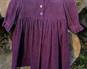 Purple Pinwale Modest Corduroy Girls 2-3T Dress