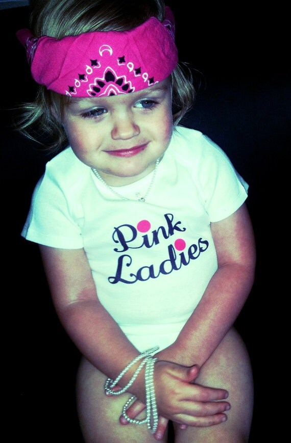 Items similar to grease pink ladies pink ladies grease funny baby clothes 50s party grease