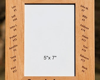 Personalized Wooden Frame - Number 1 Coach