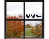Art Bird Vinyl Wall Decals (Set of 3) Size SMALL - Bird, Bird Decor, Bird Wall Art, Bird Decoration, Bird Design, Nursery Bird, Window Decal
