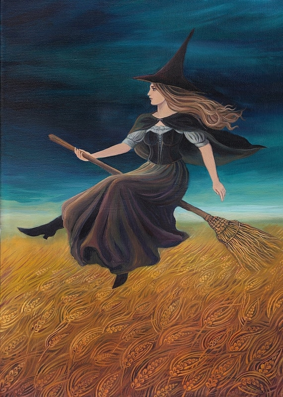 Barley Witch ACEO Pagan Art Goddess Art Mini Print Altar Art