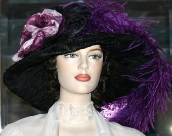 Kentucky Derby Hat Edwardian Hat Titanic Hat Ascot Hat - Lady Alexia