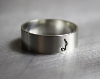 Music Note Ring, Music Note Jewelry, Clef Ring