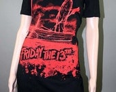 Friday The 13th Jason Horror Off Shoulder Ribbon Dress Tunic