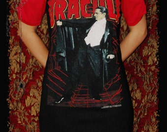 Dracula shirt dress halloween classic horror movie clothing Bela Lugosi gothic alternative clothing vampire