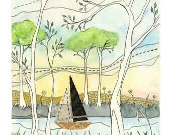 STUDIO SALE Boat Race II - Original Painting