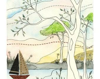 STUDIO SALE Boat Race - Original Painting