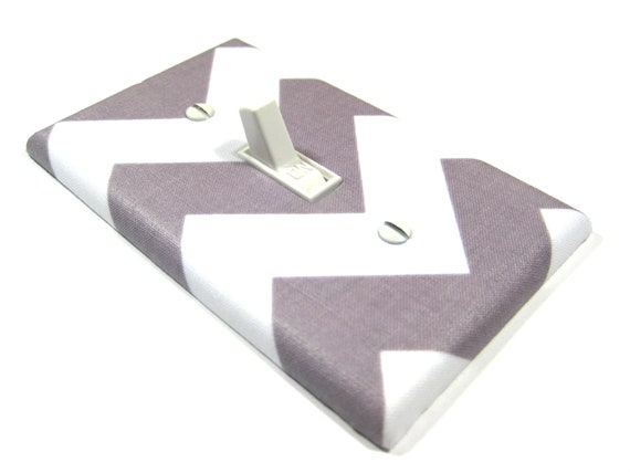 Gray and White Chevron Light Switch Cover Gray Chevron Nursery Decor Geometric Home Decor Switchplate Switchplate