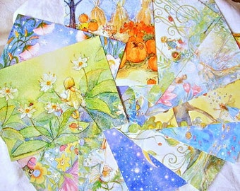 15 Fairy and Mermaid Postcards, multi fairy postcard set