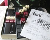 Vintage Duell Board Game 1976 Parker Brothers Complete Large Dice Stategy Travel