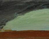 Tornado painting, original acrylic tornado painting on canvas