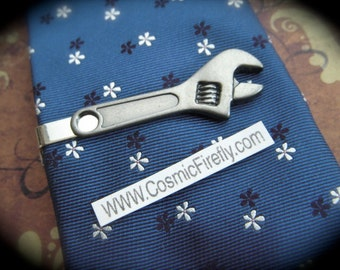Men's Tie Clip Wrench Tie Clip Men's Gifts For Him Dad Gift Grandpa Gift Steampunk Tie Clip
