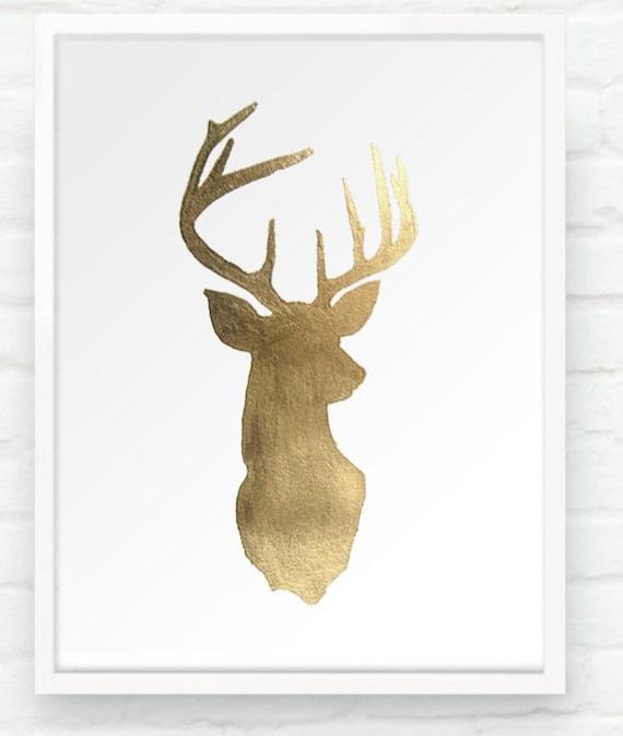 gold antler wallpaper - photo #29