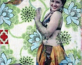 Jenna's Journey, 8 1/2 x 11,  Archival, Fine Art Print, Lotus Flower, Belly Dancer, Hummingbird, Inspirational Quote