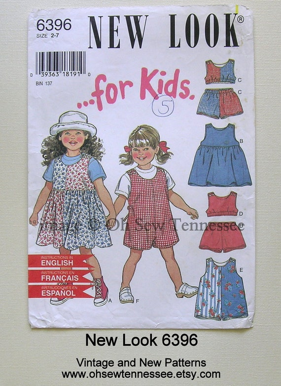 Sportswear for Children - New Look 6396 - a Sewing Pattern, Sz 2, 3, 4, 5, 6, 7