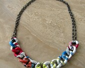 Chunky Chain Necklace - Colorful Comic Print Curb Chain - Marvel