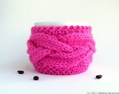 Neon Pink Coffee Mug Cozy, Tea Cozy, Coffee Cup Cozy, Cup Sleeve, Coffee Cozy, Gifts for Sister, Gifts for Girlfriend