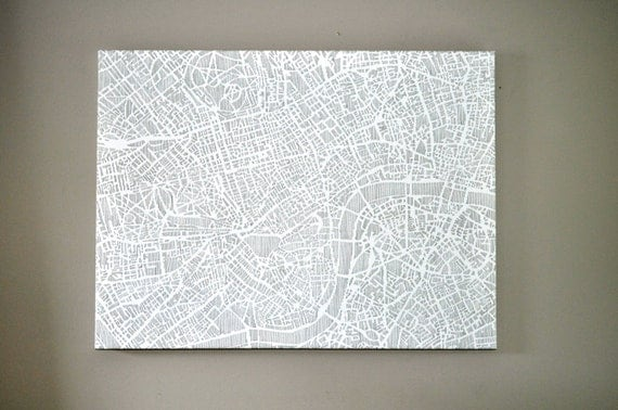 "london stretched canvas print, 24""x18"" READY TO SHIP"