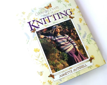 Knitting - Patterns - Edwardian - Hard Cover Book - UK - England - Romantic - Family Sweater Sets - Knit Animals - 1980s - Crafty Gift