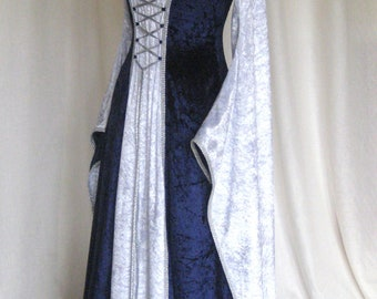 Erin, a Medieval, Gothic, Renaissance, Larp, Pagan, Pre-Raphaelite Custom Made Wedding Gown