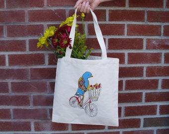 Bird On a Bike Tote bag