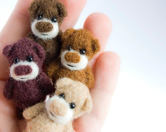 A set of 4 miniature bears - for a special price