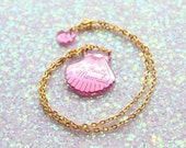 Mini Pink Shell Necklace / Mermaid Jewelry