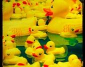 Fine Art Photo, Rubber Duckys, Yellow Ducks, Carnival Art, Nursery Wall Decor, Large Art, Toy, Yellow Decor, Boys Room, 12x12, Childrens Art