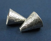 2 Sterling Silver Large Decorative Cones