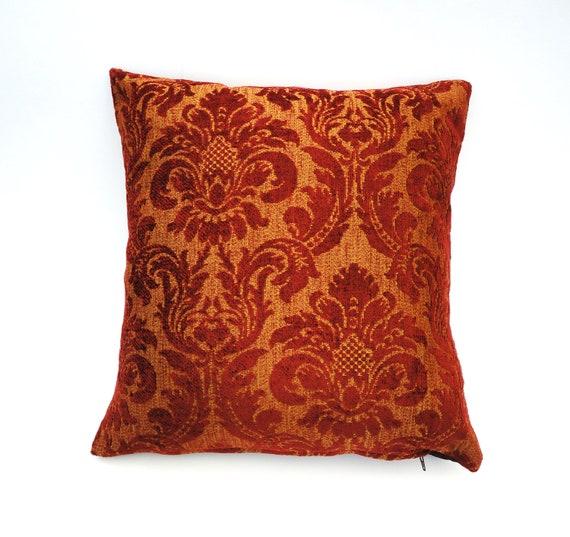 Decorative Pillow Cover Burgundy Venetian by chantalmarieliving