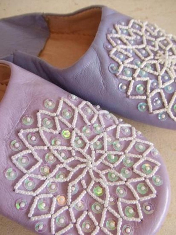 Lilac Les Etoile Babouche Slippers-Perfect for  birthday gifts, home gifts