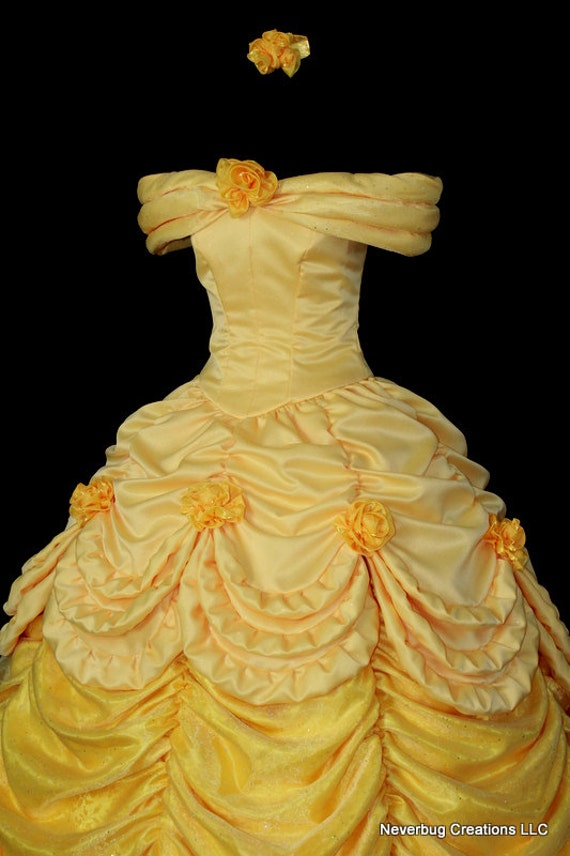 Beauty and the beast belle parade gown custom by for Beauty and the beast style wedding dress