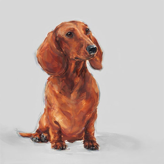 Red Dachshund art print - Ltd. Ed Collectable