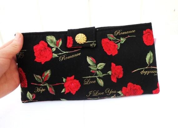SALE- Romantic Rose Soft Pouch