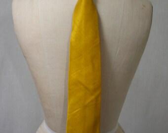Sunflower Yellow Shantung Men's Necktie