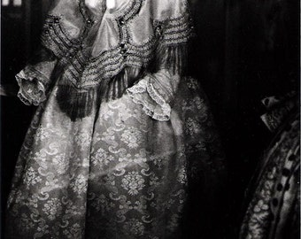 Haunting Victorian Dress Photograph Black and White Surreal Ghost Dress Historical Garment Wall Art 8x12
