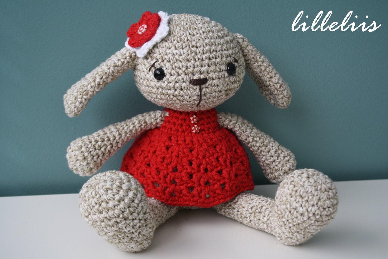 Amigurumi Crochet Bunny Pattern : PATTERN Miss Bunny crochet pattern amigurumi pattern pdf