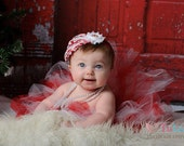 Christmas Candy Cane Tutu in Red and White