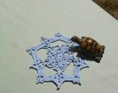Little Blue Crocheted Doily