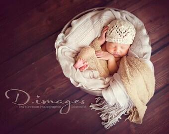 newborn photo prop, newborn hat, beige beanie newborn/ baby hat, newborn girl, newborn knit hat, baby hat, newborn props, newborn girl prop