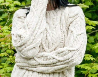 Cable knit Sweater, Women's sweater, Hand Knit Sweater, Cable sweater