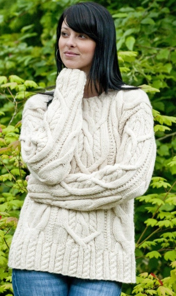 Items Similar To Sweater Women S Sweater Hand Knit