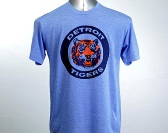 Detroit Tigers Logo Vintage 80's // four shirt colors available