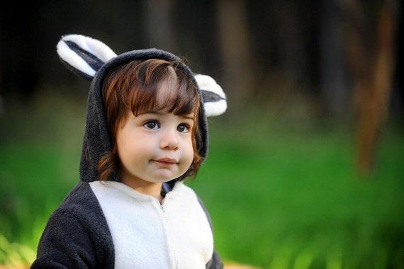 Raccoon costume/ Kids costume/ Handmade  Raccoon  Baby Costume/ Toddler Costume