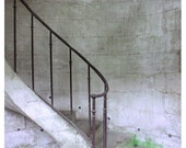 Stair Photograph France Versailles White Brown Iron Stone Rustic Primitve Petit Trianon