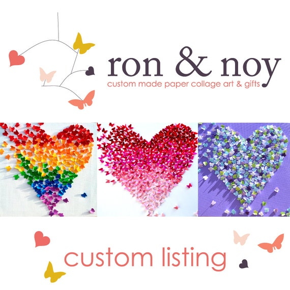 Custom Made Nursery Mobile for ASHLEY - Based on Love Letters Mobile