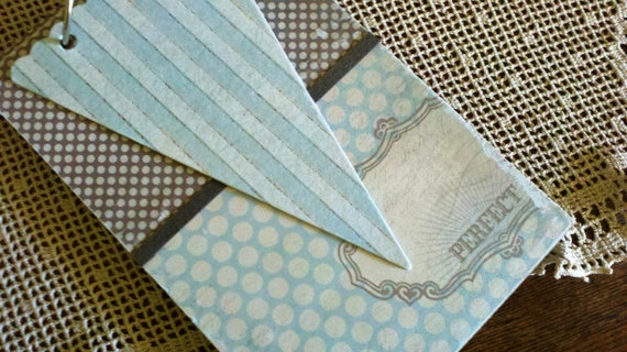 Two Ring Scrapbook album for 4x6 Photos and/or other Memorabilia//Soft Blue/Gray/Meadow Green Palette